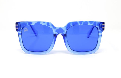 RainbowOPTX - Unit Leopard Sunglasses / Blue Lenses