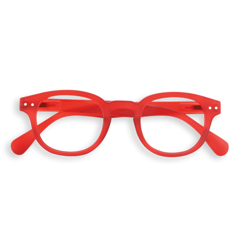Izipizi - #C Red Crystal  Eyeglasses / Screen Blue Light Clear Lenses