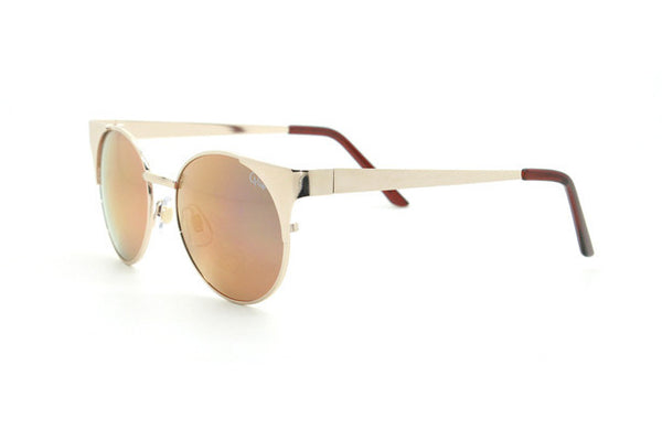 Quay Asha Gold Sunglasses, Gold Lenses