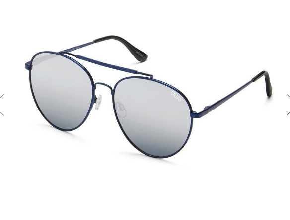 Quay Lickety Split Blue / Silver Sunglasses