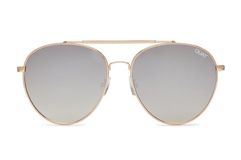 Quay Lickety Split Gold / Brown Sunglasses