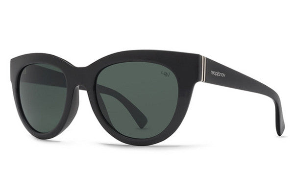VonZipper - Queenie Black Gloss BPP Sunglasses, Grey Poly Polarized Lenses
