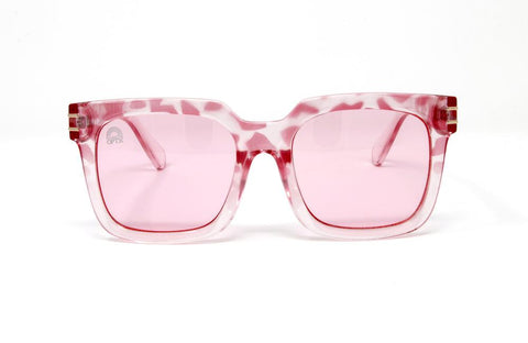 RainbowOPTX - Unit Leopard Sunglasses / Rose Lenses