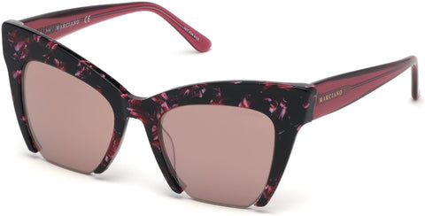 Marciano - GM0785 Pink Sunglasses / Bordeaux Mirror Lenses