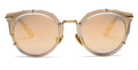 Westward Leaning - Sphinx 07 Polished Crystal Sunglasses / Super Gold Mirror Lenses