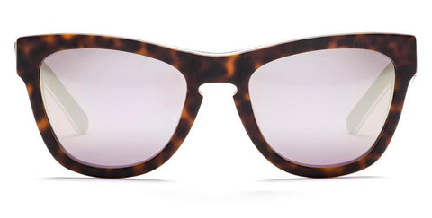 Westward Leaning - Pioneer 17 Matte Layered Tortoise Acetate Sunglasses / Super Silver Mirror Lenses