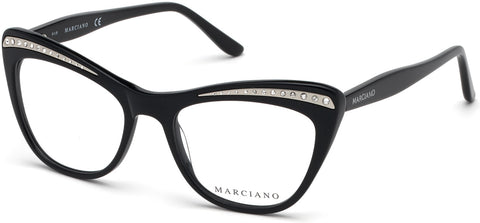 Marciano - GM0337 Shiny Black Eyeglasses / Demo Lenses