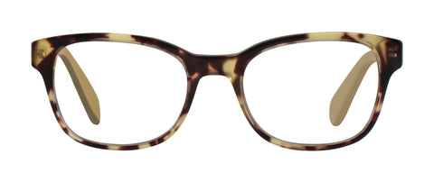 Scojo - Burrows Street Tortoise/Goldenrod Reader Eyeglasses / +1.00 Lenses