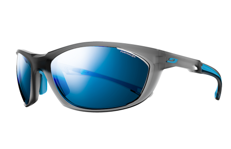 Julbo - Reach 2.0 Translucent Grey / Blue Sunglasses, Polarized 3+ Lenses