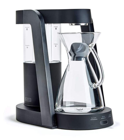 Ratio - Eight Matte Black Ebonized Handblown Glass Coffee Maker