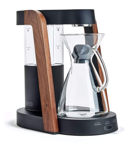 Ratio - Eight Matte Black Walnut Handblown Glass Coffee Maker