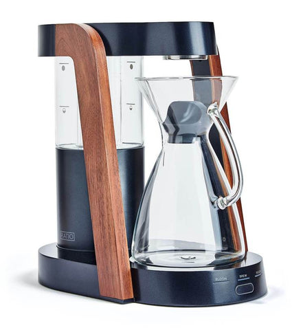 Ratio - Eight Dark Cobalt Walnut Handblown Glass Coffee Maker