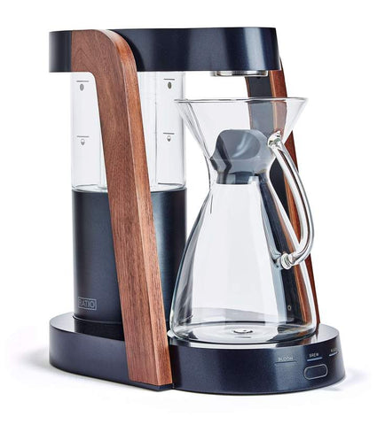 Ratio - Eight Dark Cobalt Parawood Handblown Glass Coffee Maker