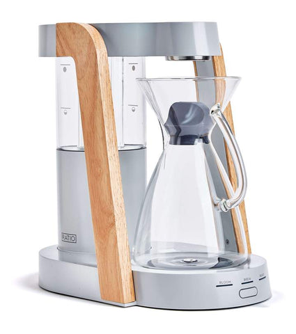 Ratio - Eight Oyster Parawood Handblown Glass Coffee Maker