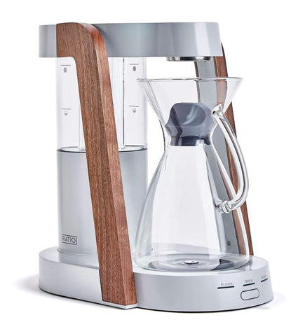 Ratio - Eight Oyster Walnut Handblown Glass Coffee Maker