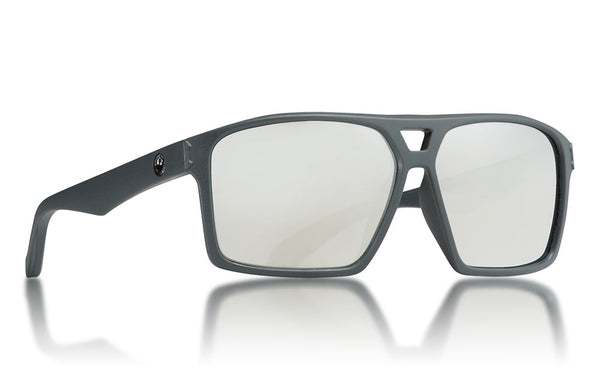 Dragon - Channel Matte Grey Sunglasses / Silver Ion Lenses