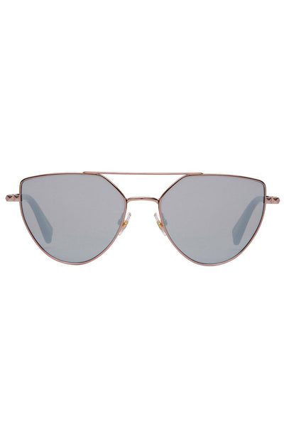 Rebecca Minkoff - Stevie 2 Rose Gold Sunglasses / Silver Mirror Lenses
