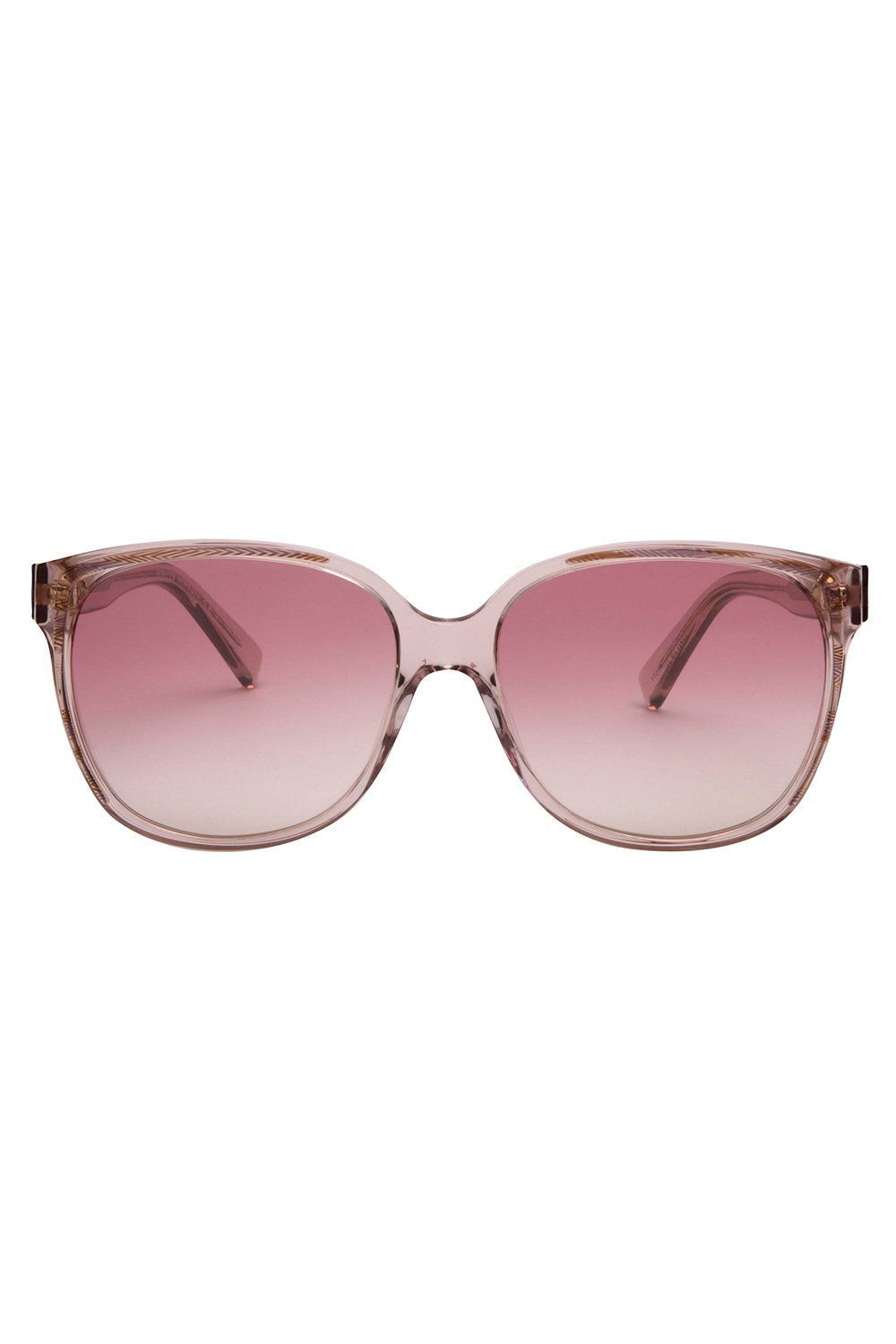 Rebecca Minkoff - Jane 1 Pink Sunglasses / Pink Flash Silver Lenses