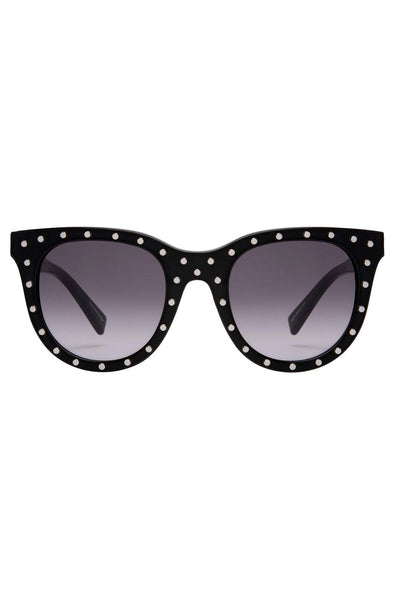 Rebecca Minkoff - Cyndi 2 Black Sunglasses / Gradient Dark Gray Lenses