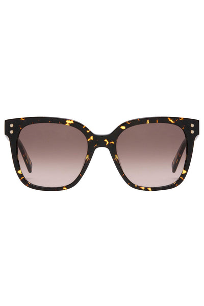 Rebecca Minkoff - Cyndi 1 Dark Havana Sunglasses / Gradient Brown Lenses