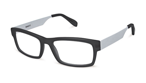 Scojo New York - Reade Street Black Silver Reader Eyeglasses / +3.00 Lenses