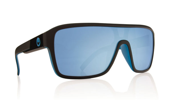 Dragon - Remix Matte Black / Sky Blue Ion Sunglasses