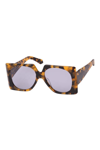 Karen Walker - Return To Sender Crazy Tortoise Sunglasses / Gray Lenses