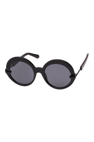 Karen Walker - Romancer  Black Sunglasses / Smoke Mono Lenses