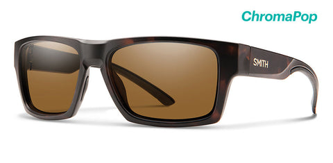 Smith - Outlier 2  Matte Tortoise Sunglasses / ChromaPop Polarized Brown Lenses