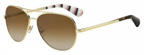 Kate Spade - Avaline 2 S Gold Sunglasses / Brown Gradient Polarized Lenses