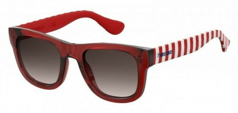 Havaianas - Paraty M Dark Red Striped Sunglasses / Brown Gradient Lenses