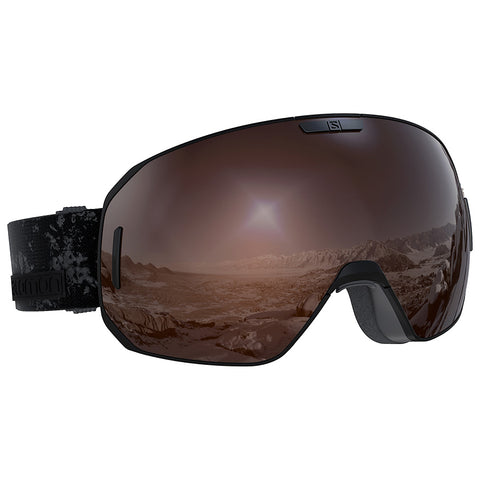 Salomon - S/Max Access Black Snow Goggles / Tonic Orange Solar Mirror Lenses