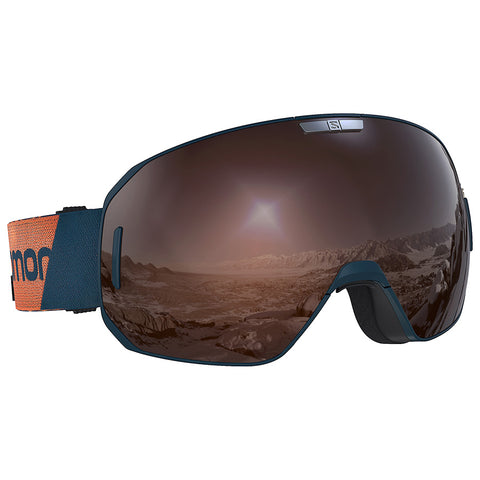 Salomon - S/Max Access Moroccan Blue Snow Goggles / Tonic Orange Solar Mirror Lenses