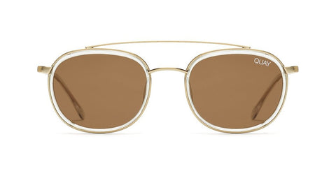 Quay - Got It Covered Clear Sunglasses / Brown Lenses