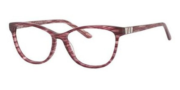 Saks Fifth Avenue - Saks 306 52mm Plum Sparkle Eyeglasses / Demo Lenses