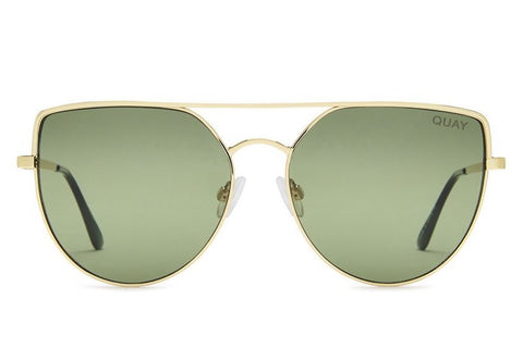 Quay Santa Fe Gold / Green Sunglasses