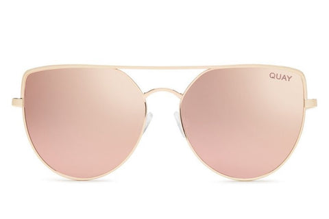 Quay Santa Fe Rose Gold / Pink Sunglasses