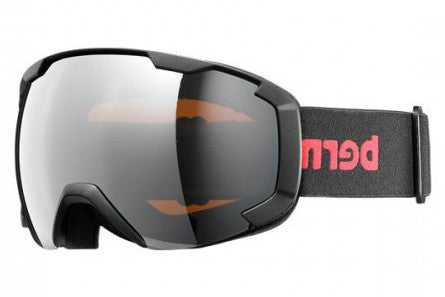 Bern - Sawyer Black / Red Goggles, Orange Light Mirror Lenses