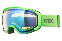 Bern - Sawyer Neon Green Goggles, Yellow / Blue Light Mirror Lenses