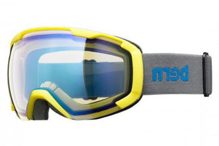 Bern - Sawyer Neon Yellow / Grey Goggles, Yellow / Blue Light Mirror Lenses