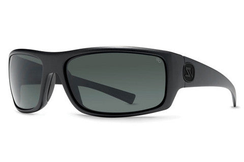 VonZipper - Scissorkick Black Satin ASP Sunglasses, Full Frontal Poly Polar Lenses