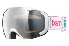 Bern - Scout White Fair Isle Goggles, Rose Light Mirror Lenses