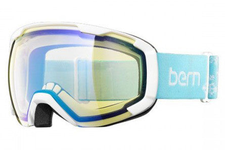 Bern - Scout Blue Snowflake Goggles, Yellow / Blue Light Mirror Lenses