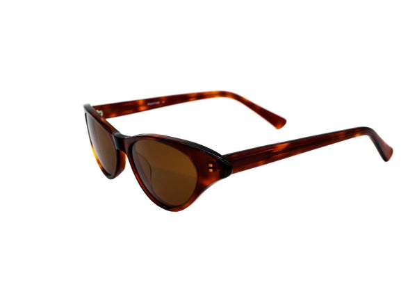 Shevoke - Monroe Tortoise Acetate Sunglasses / Brown Lenses