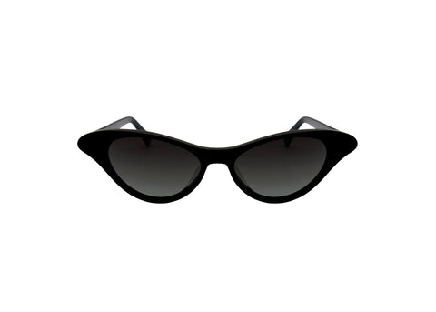 Shevoke - Monroe Shiny Black Sunglasses / Smoke Gradient Lenses