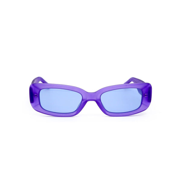 Shevoke - Norm Frosted Purple Sunglasses / Navy Blue Lenses