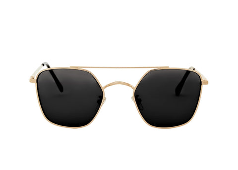 Shevoke - Weekender Gold Sunglasses / Black Lenses