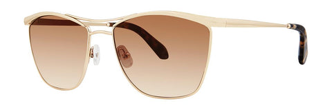 Zac Posen - Sparrow 54mm Gold Sunglasses / Brown Gradient Lenses