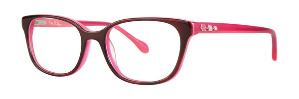 Lilly Pulitzer  - Korra  45mm Hot Pink Eyeglasses / Demo Lenses
