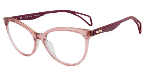 Police - VPL735 54mm Transparent Pink Purple Eyeglasses / Demo Lenses
